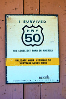Hwy 50 Survival Sign, Austin Nevada