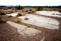 Mystery foundation at Old Boulder City Airport