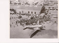 TWA Arrives at Old Boulder City Airport.USBR photographs from the BCMHA archive